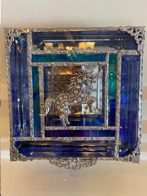 blue-glass-with-unicorn